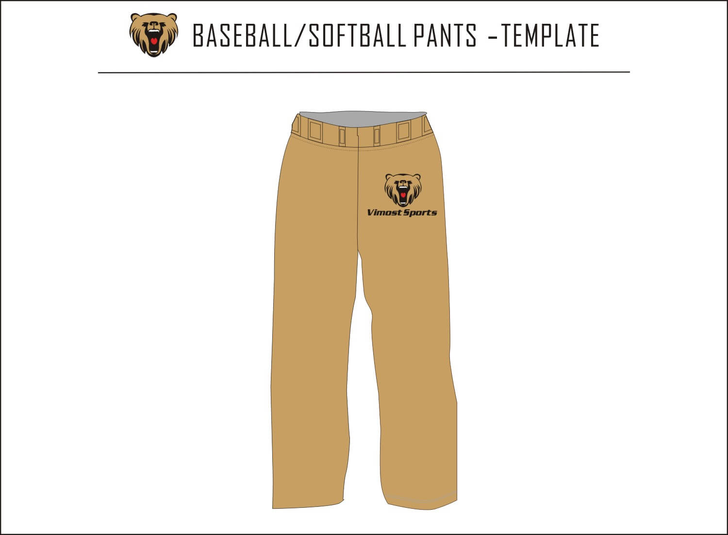 BASEBALL SOFTBALL PANTS-TEMPLATE