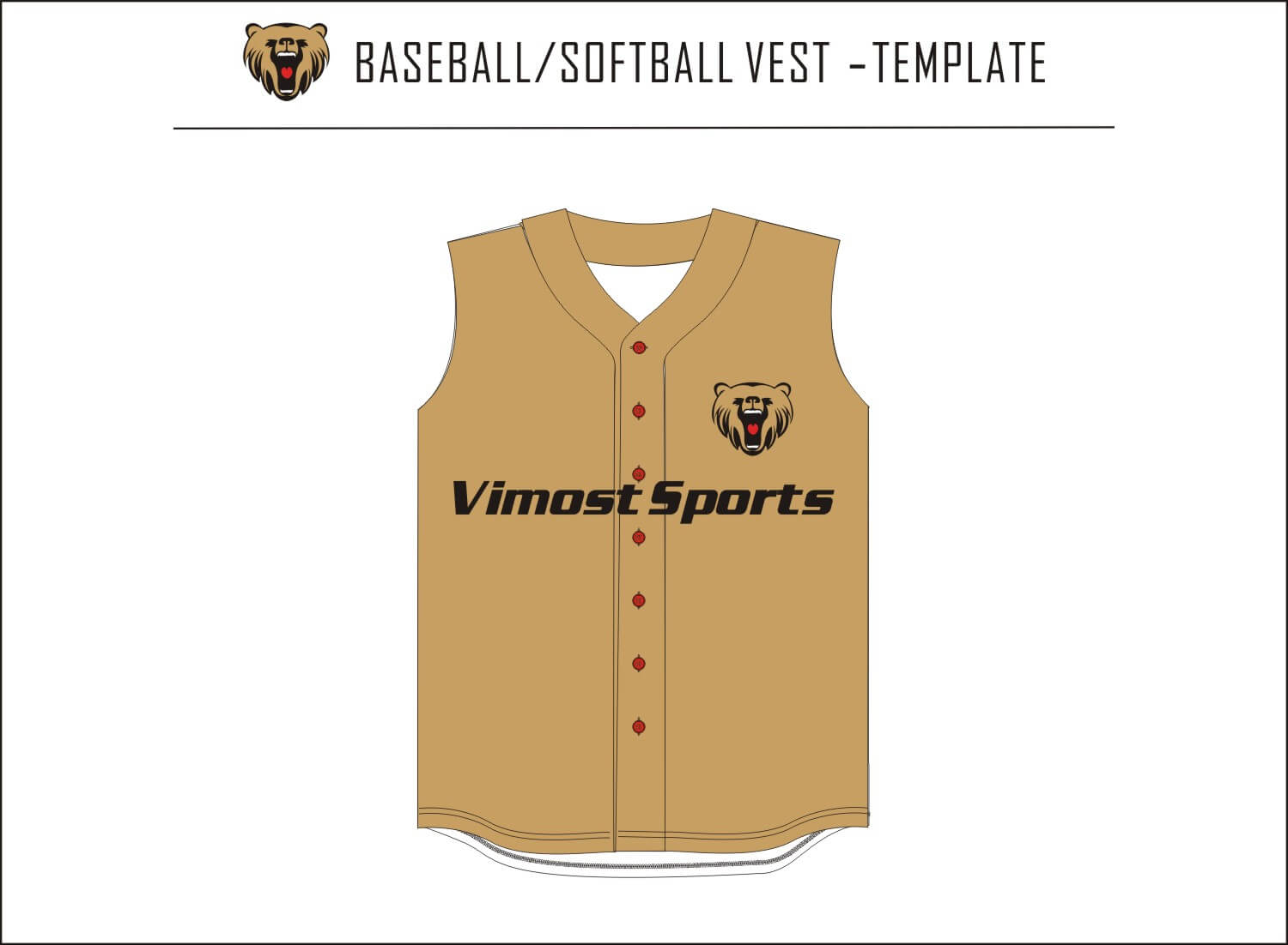 BASEBALL SOFTBALL VEST-TEMPLATE
