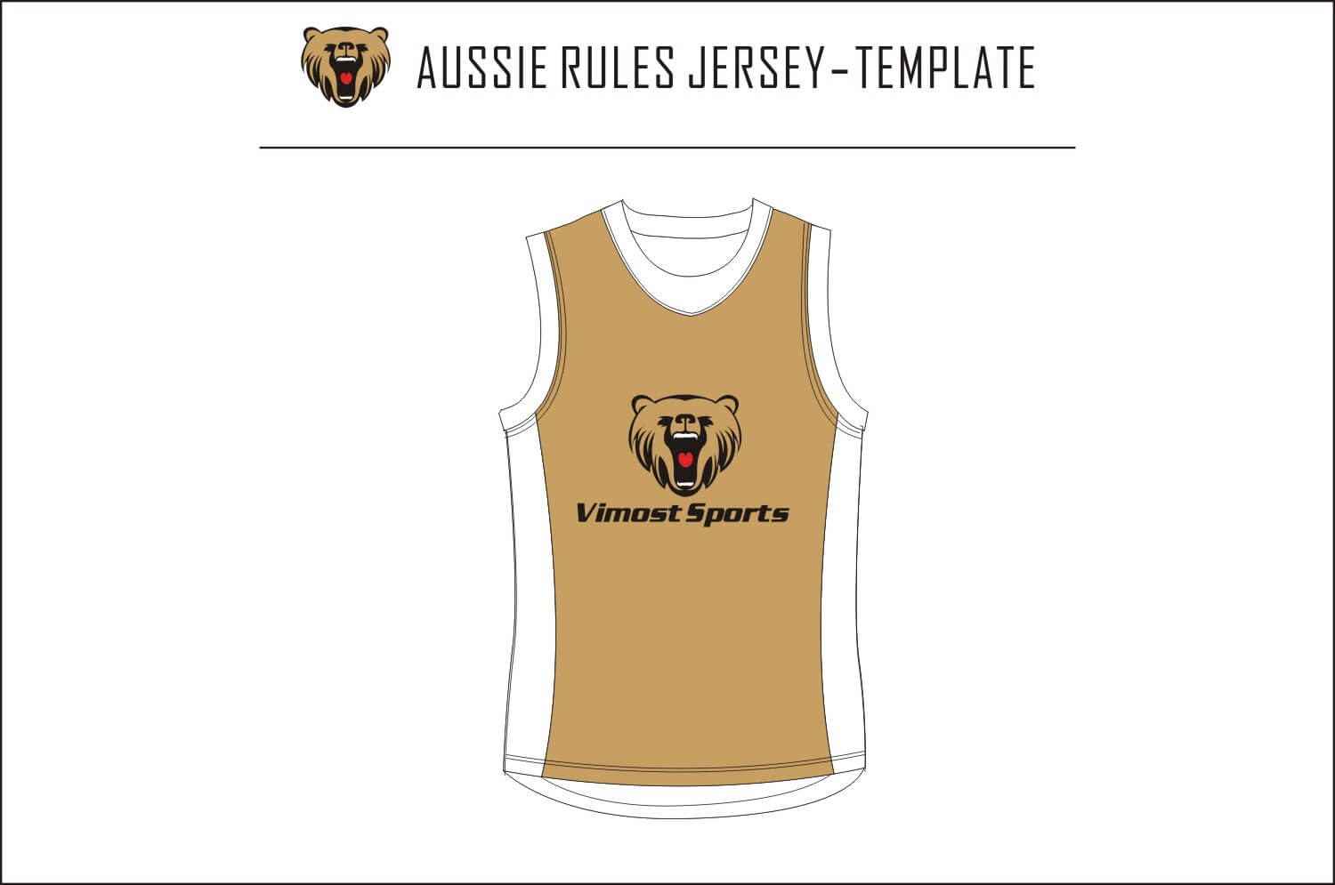 Aussie Rules Jersey-template