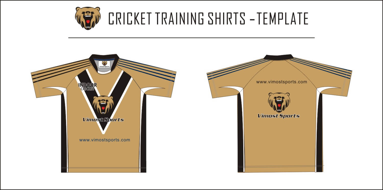Cricket Training shirts-template