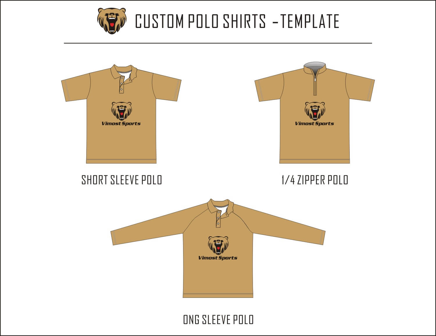 polo shirts-Template